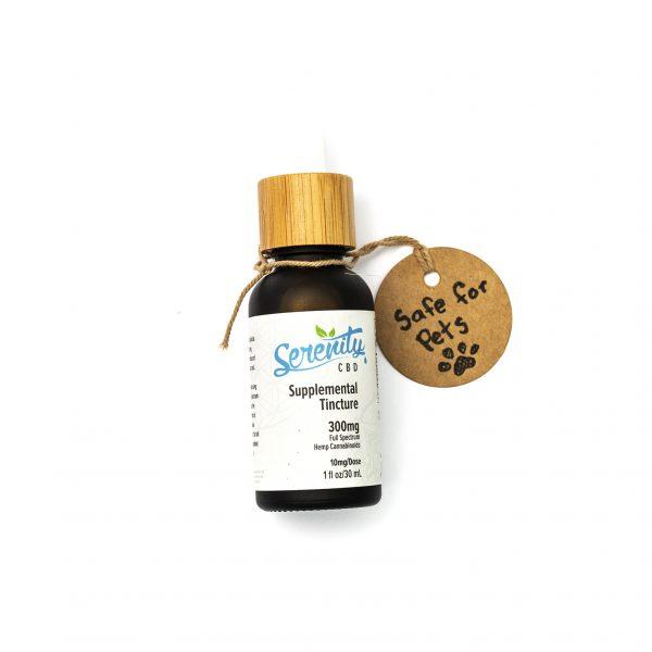 Ingestible Daily CBD Supplemental tincture 300mg per bottle / 10mg per dose | Serenity CBD